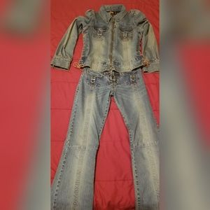 Parasuco Jean Outfit/Jacket and Pants